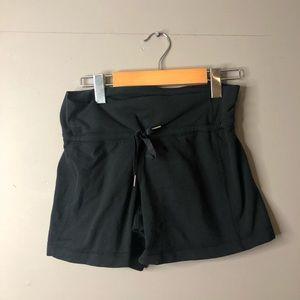 Lululemon black drawstring shorts size 4